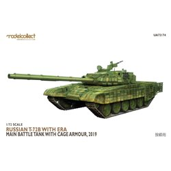 MODELCOLLECT UA72174 1/72 Russian T-72B with ERA Main Battle Tank with cage armour, 2019
