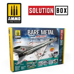 AMMO BY MIG A.MIG-7721 HOW TO PAINT BARE METAL AIRCRAFT. COLORS AND WEATHERING SYSTEM SOLUTION BOX
