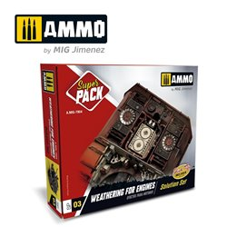 AMMO BY MIG A.MIG-7804 SUPER PACK. WEATHERING FOR ENGINES. EFECTOS PARA MOTORES