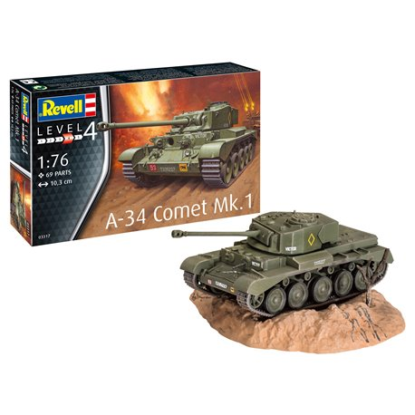 REVELL 03317 1/76 A-34 Comet Mk.1