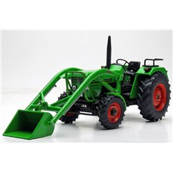 WEISE-TOYS 1072 1/32 Deutz D 52 06 with frontloader (1974 - 1978)