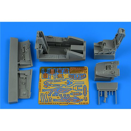 AIRES 4820 1/48 F-104G Starfighter cockpit set (C-2 ej. seat) for Kinetic