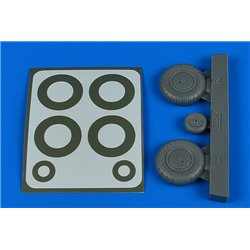 AIRES 2245 1/32 Bf 108 wheels & paint masks - early for Eduard