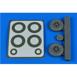 AIRES 2244 1/32 Bf 108 wheels & paint masks - late for Eduard