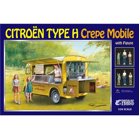 EBBRO 25013 1/24 Citroën Type H Crepe Mobile with Figure