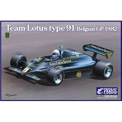 EBBRO 20019 1/20 Team Lotus type 91 Belgian GP 1982