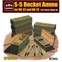 DIOPARK 35022 1/35 S-5 Rocket Ammo for UB-32 and UB-16 10 Sets