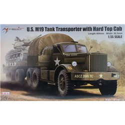 MERIT 63501 1/35 U.S. M19 Tank Transporter with Hard Top Cab