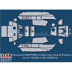 ATAK Model 35077 1/35 Zimmerit Panther A Late, M.A.N Pattern (TAKOM)