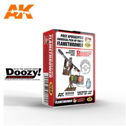 DOOZY DZ030 1/24 POST APOCALYIPTIC UNIVERSAL PICK-UP TRUCK FLAMETHROWER