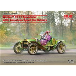 ICM 24026 1/24 Model T 1913 Speedster with American Sport Car Drivers