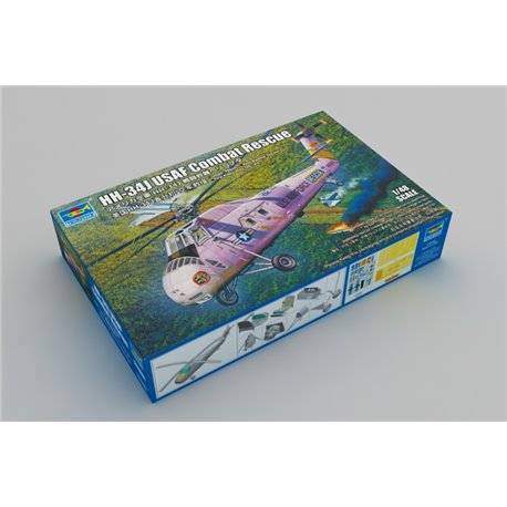 TRUMPETER 02884 1/48 HH-34J USAF Combat Rescue - Re-Edition