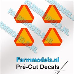 FARMMODELS PCD-GEV-00241 1/32 4 triangles d'avertissement de 12 mm