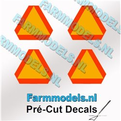 FARMMODELS PCD-GEV-00243 1/32 4 triangles d'avertissement de 14 mm