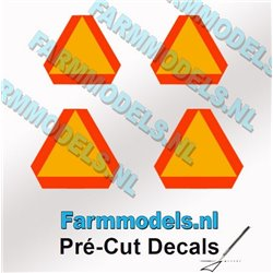 FARMMODELS PCD-GEV-00245 1/32 Lot de 4 triangles d'avertissement