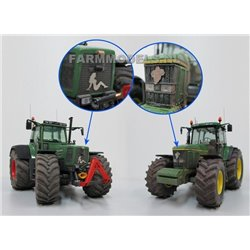 FARMMODELS 21510 1/32 Naked Lady + Poupée Michelin, 2 photos découpées au laser