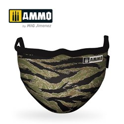 AMMO BY MIG A.MIG-8069 Tiger Camo AMMO Face Mask