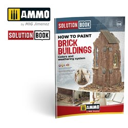 AMMO BY MIG A.MIG-6510 How to Paint Brick Buildings. Colors & Weathering System Solution Book (Multilingual)