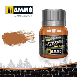 AMMO BY MIG A.MIG-0611 DRYBRUSH Medium Rust 40 ml