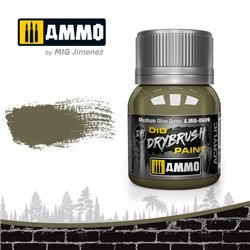 AMMO BY MIG A.MIG-0609 DRYBRUSH Medium Olive Green 40 ml