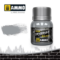 AMMO BY MIG A.MIG-0602 DRYBRUSH Medium Grey 40 ml