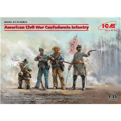 ICM 35021 1/35 American Civil War Confederate Infantry