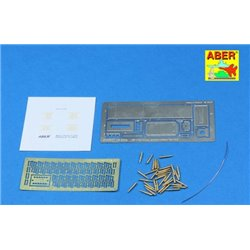 ABER 16047 1/16 .50 cal. Ammunition with M2A1 box set for U.S. M2 Machine Gun for Universal set