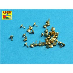 ABER 16106 1/16 Turned rivets 0,9 x1,3 x 0,5mm 40 pcs. for Universal set