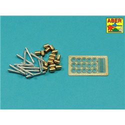 ABER 16058A 1/16 German Stielhandgranate 24 –set of 15 pcs. All metal parts
