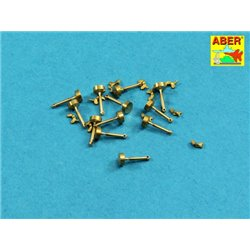 ABER 16105 1/16 Wing nuts with turned bolt x 12 pcs