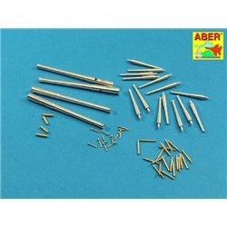 ABER 1:200 L-07 1/200 Armament for japaneese battleship MIKASA 305mm x4, 152mm x14, 76mm x20, 37mm x12 for Universal set