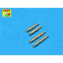 ABER A32 003 1/32 Set of 4 barrels tips for German 7,92 mm MG 17 aircraft machine guns