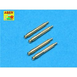 ABER A32 011 1/32 Set of 4 barrel tips for German 13 mm MG 131 aircraft machine gun