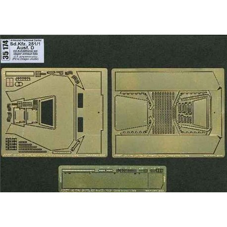 ABER 35174 1/35 Sd.Kfz.251/1 Ausf.D-vol.8-add.set-Upper armour-late for Dragon