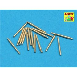 ABER 1:350 L-34 1/350 Set of 16 pcs 102 mm QF Mk.V barrels for Royal Navy ships