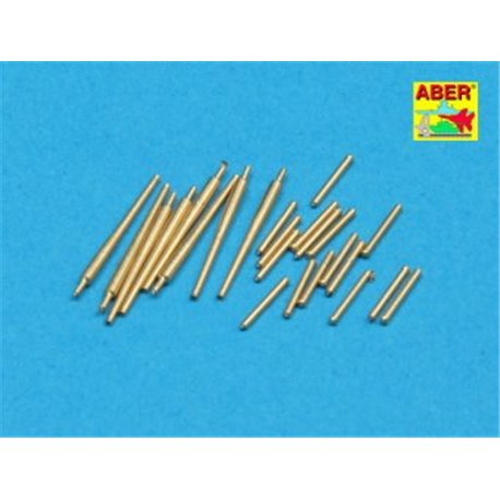 ABER 1:350 L-37 1/350 Set of 8 pcs 127 mm L40 type 89 A/A lbarrels with recoil cylinders used on Japan ships