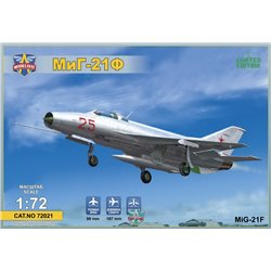 "MODELSIVT 72021 1/72 MIG-21F(Izdeliye""72"")Soviet supersonic fighter"