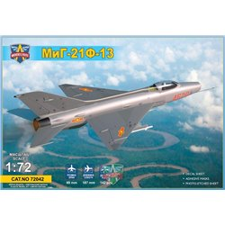MODELSIVT 72042 1/72 MiG-21F-13 supersonic jet fighter