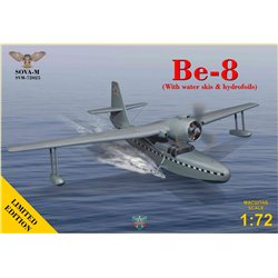 SOVA-M 72025 1/72 Be-8  amphibian aircraft (with water skis & hydrofoils),Limited Edition