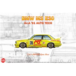 NUN PN24014 1/24 BMW M3 E30 Group A 1991 Auto Tech