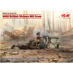 ICM 35713 1/35 WWI British Vickers MG Crew(Vickers MG & 2figures)
