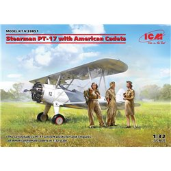 ICM 32051 1/32 Stearman PT-17 with American Cadets