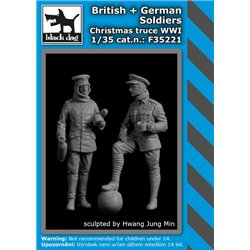 BLACK DOG F35221 1/35 British & German soldiers Christmas truce WWI