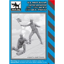 BLACK DOG F32112 1/32 U.S. NAVY aircraft carrier personnel 1941-45 set N2