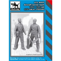 BLACK DOG F32102 1/32 US NAVY aircraft carrier team 1941-45 set