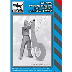 BLACK DOG F32098 1/32 US NAVY mechanic personnel 1941-45 N2