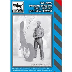 BLACK DOG F32097 1/32 US NAVY mechanic personnel 1941-45 N1