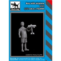 BLACK DOG F32094 1/32 Boy with an aeroplane