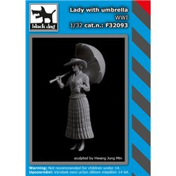 BLACK DOG F32093 1/32 Lady with umbrella WWI