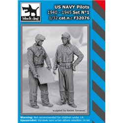 BLACK DOG F32076 1/32 US NAVY pilots 1940-45 set N1